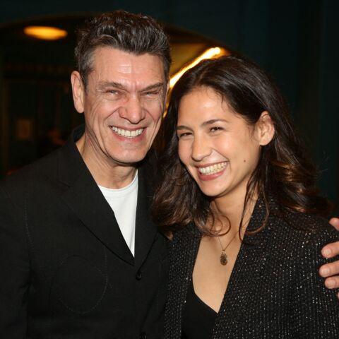 PHOTOS – Marc Lavoine et sa compagne Line Papin tout sourires à la première des Souliers Rouges