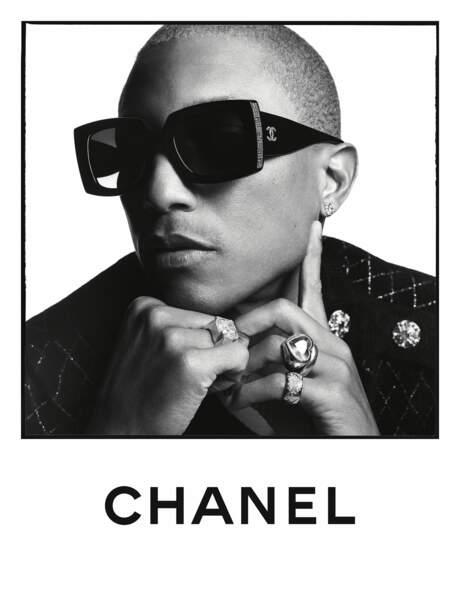 Pharel Williams collabore avec Chanel depuis plusieurs années déjà.