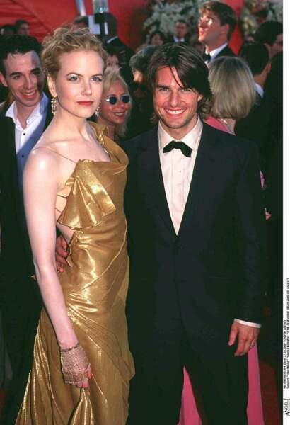 Tom Cruz et Nicole Kidman réunis lors de la cérémonie des Oscars en 2000