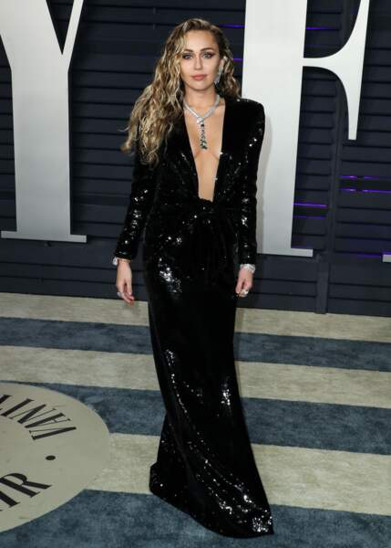 Miley Cyrus en Saint Laurent en 2019.