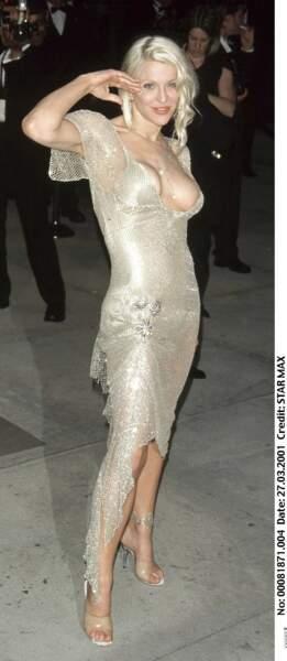 Courtney Love, lors de la soirée Vanity Fair Oscar Party 2001
