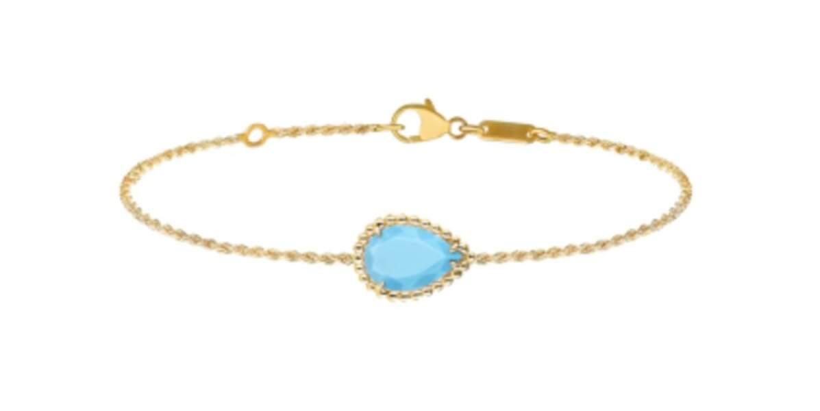 Bracelet en or et turquoise, prix sur demande, Boucheron.