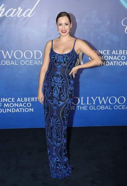 """Jazmin Grace Grimaldi prend la pose, rayonnante  le 6 février 2020, lors des Global Ocean"""" à Hollywood."""