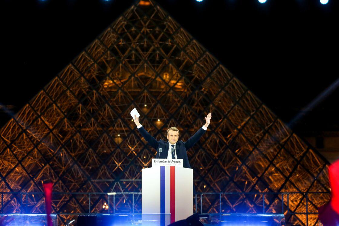 Emmanuel Macron au Louvre le 7 mai 2017