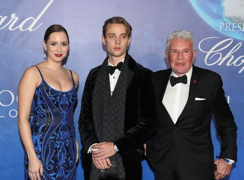 Jazmin Grace Grimaldi, prend la pose avec Edouard Philiponnat, jeune acteur de 20 ans, qui a grandi à Monaco.