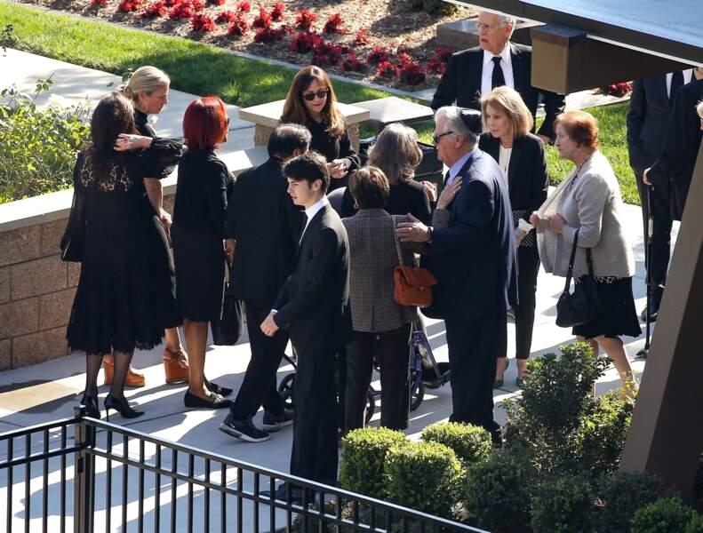 De nombreux invités avaient fait le déplacement pour saluer la mémoire de Kirk Douglas