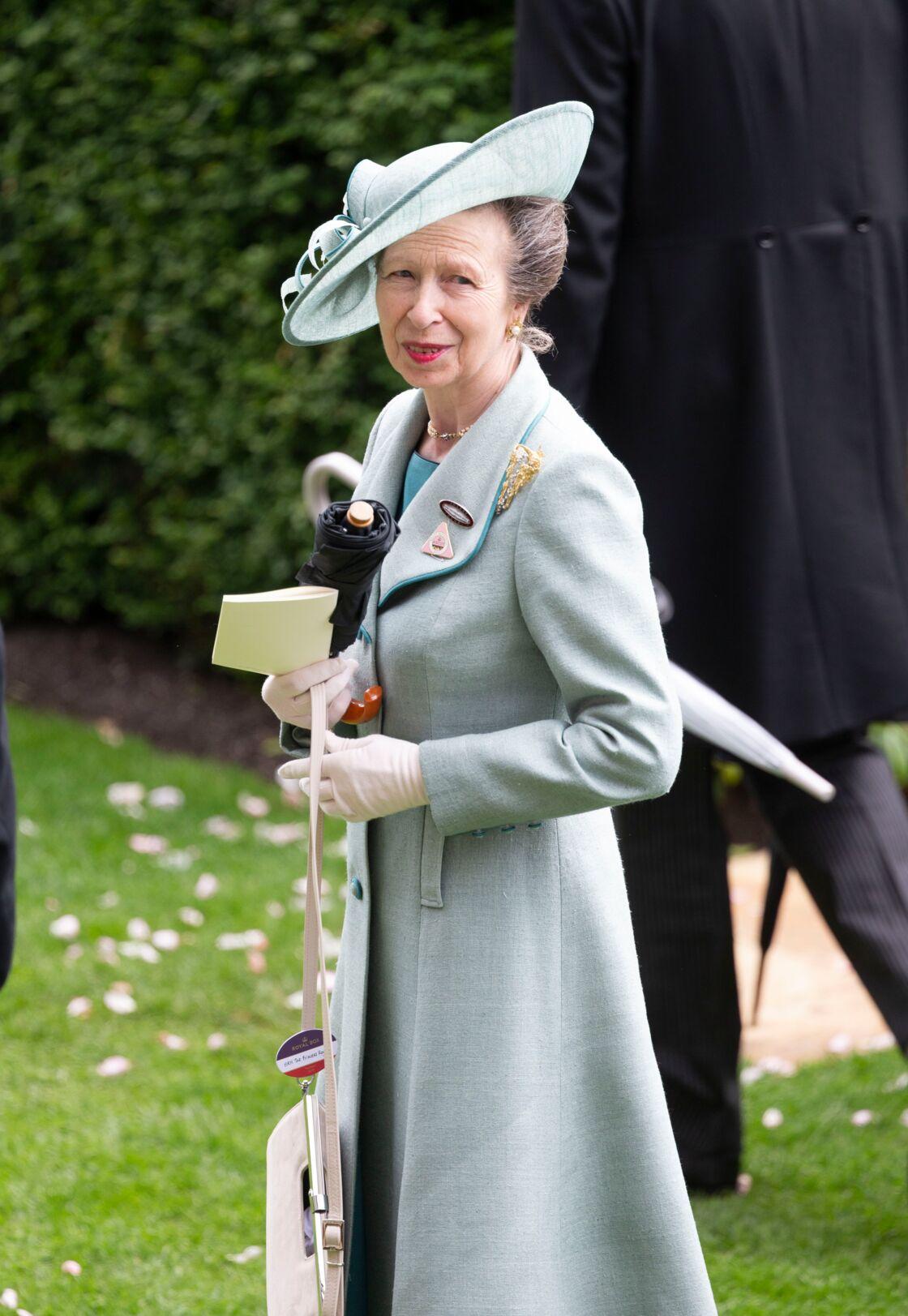 La princesse Anne lors de la réunion hippique d'Ascot, le 20 juin 2019.
