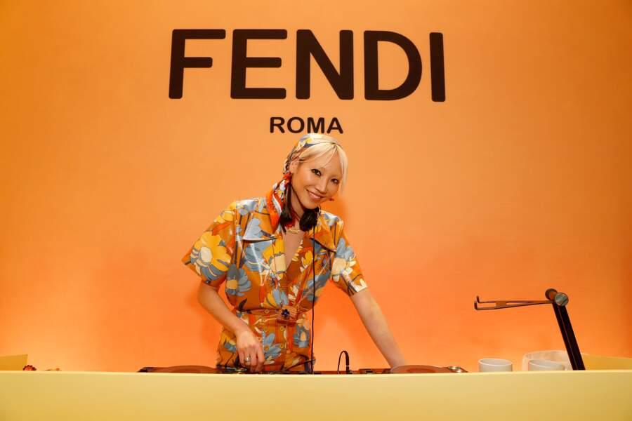 Pour animer ce cocktail privé, la marque italienne a fait appel à la DJ Soo Joo Park.