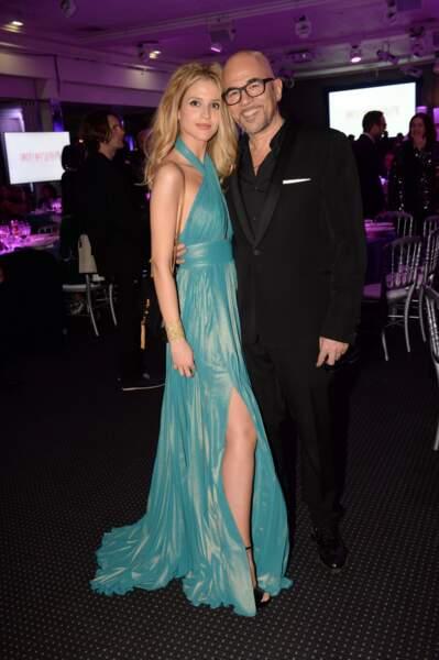 Pascal Obispo et sa femme Julie Hantson lors de la 16ème soirée Sidaction à Paris, le 25 janvier 2018