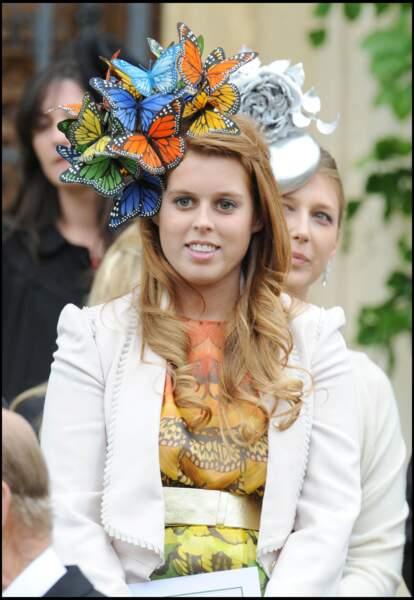 Beatrice d'York avait misé, comme à son habitude, pour un chapeau très extravagant.
