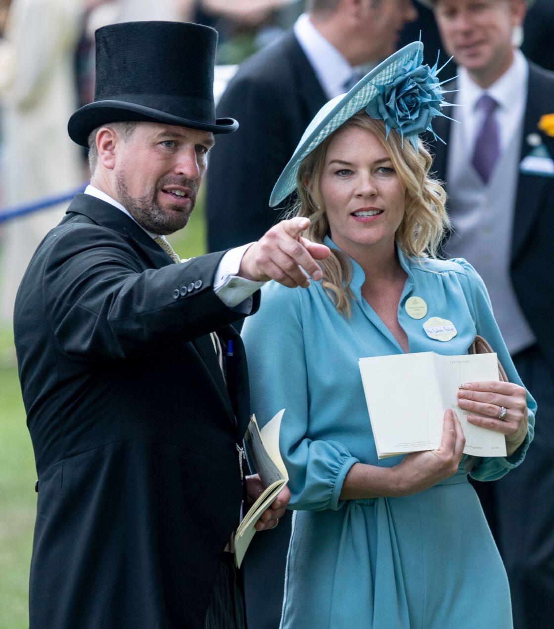 Peter Phillips et sa femme Autumn Phillips, lors du Royal Ascot. Le 22 juin 2019