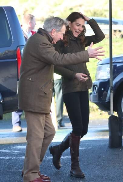 Kate Middleton à Newtownards, près de Belfast, en Irlande du Nord, le 12 février 2020.