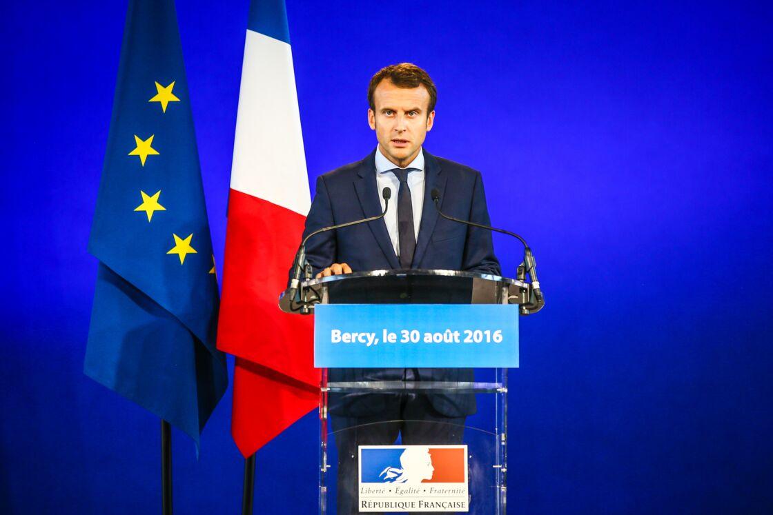 Emmanuel Macron après sa démission du ministère de l'Economie