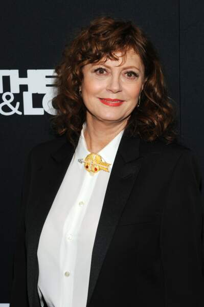 "Susan Sarandon lors de la projection du film ""Thelma & Louise""  à New York, le 28 janvier 2020"