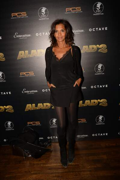 "Karine Le Marchand lors de l'After Party du film "" Alad'2 "" à Paris le 21 septembre 2018"