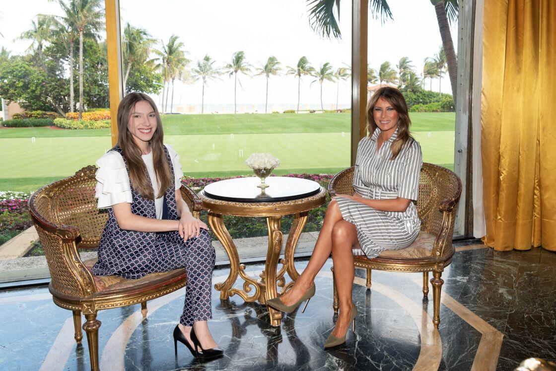 Melania Trump et Fabiana Rosales de Guaido (épouse du politicien vénézuélien J. Guaido) en Floride en mars 2019.