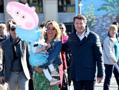 PHOTOS - Laura Tenoudji et Christian Estrosi tout sourire avec leur petite Bianca pour une sortie en famille