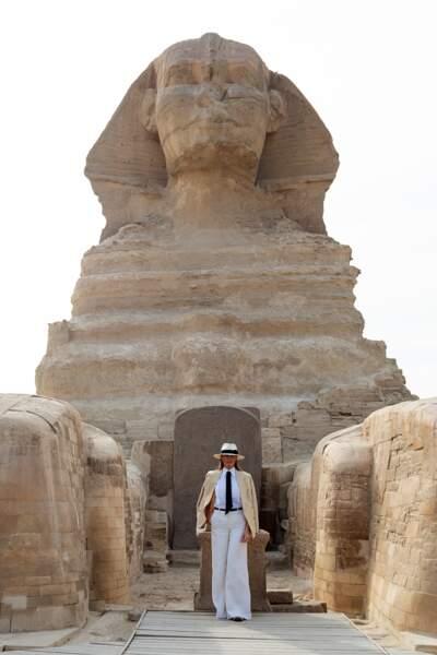 Melania Trump en Egypte, le 6 octobre 2018