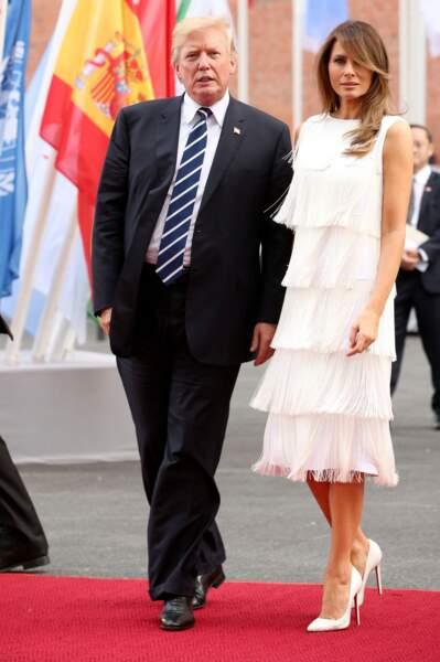 Melania et Donald Trump, le 7 juillet 2017 en Allemagne