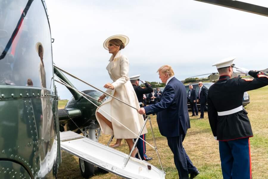 Melania et Donald Trump à Portsmouth, le 5 juin 2019