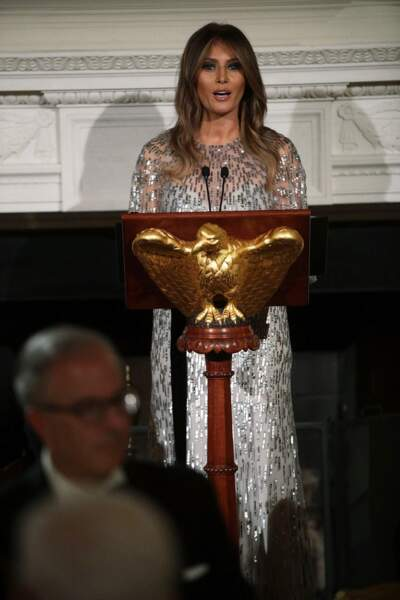 Melania Trump à Washington, le 14 septembre 2017