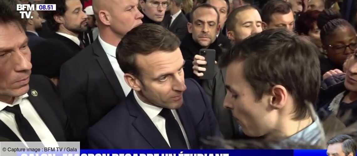 Emmanuel Macron recadre sèchement un étudiant, lui conseillant d'aller « travailler » ses dossiers - Gala