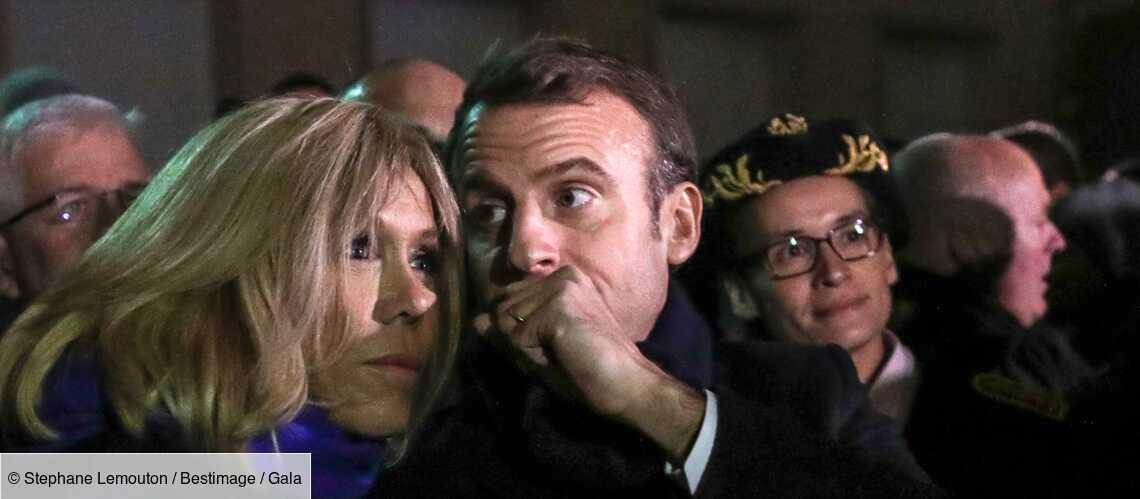 Emmanuel et Brigitte Macron enlacés, cet instant de complicité à l'Elysée - Gala