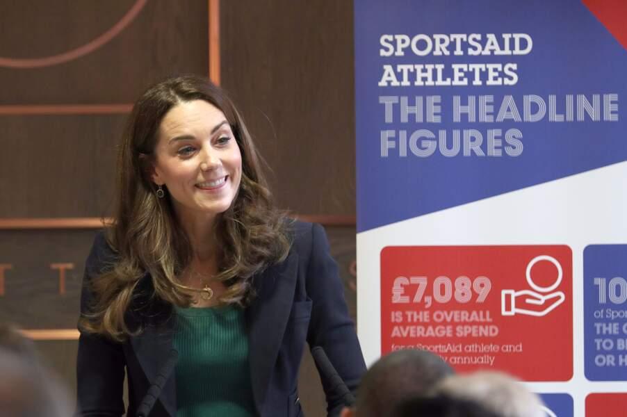 Kate Middleton s'engage pour l'association SportsAid au stade olympique de Londres