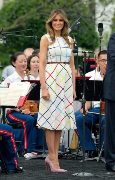 Melania Trump à Washington le 22 juin 2017