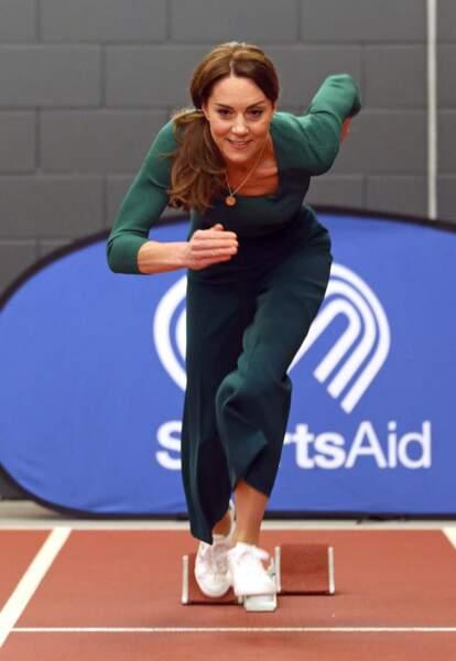 Kate Middleton en mode Flash au stade olympique de Londres