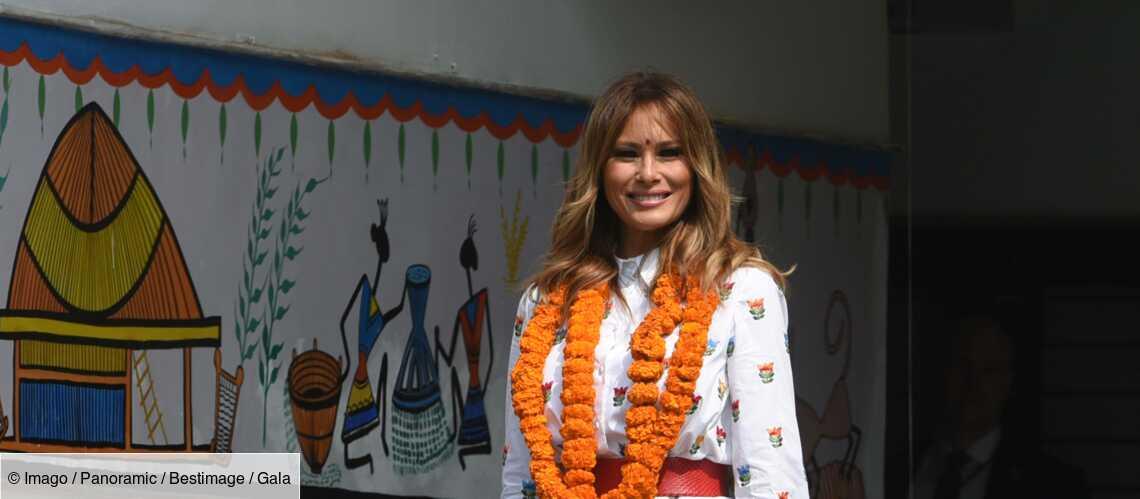 PHOTOS – Melania Trump tendance en robe blanche fleurie à 1683 € en Inde - Gala