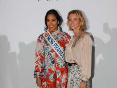 PHOTOS - Clémence Botino, Miss France 2020, très stylée au côté de Sylvie Tellier à la Fashion Week