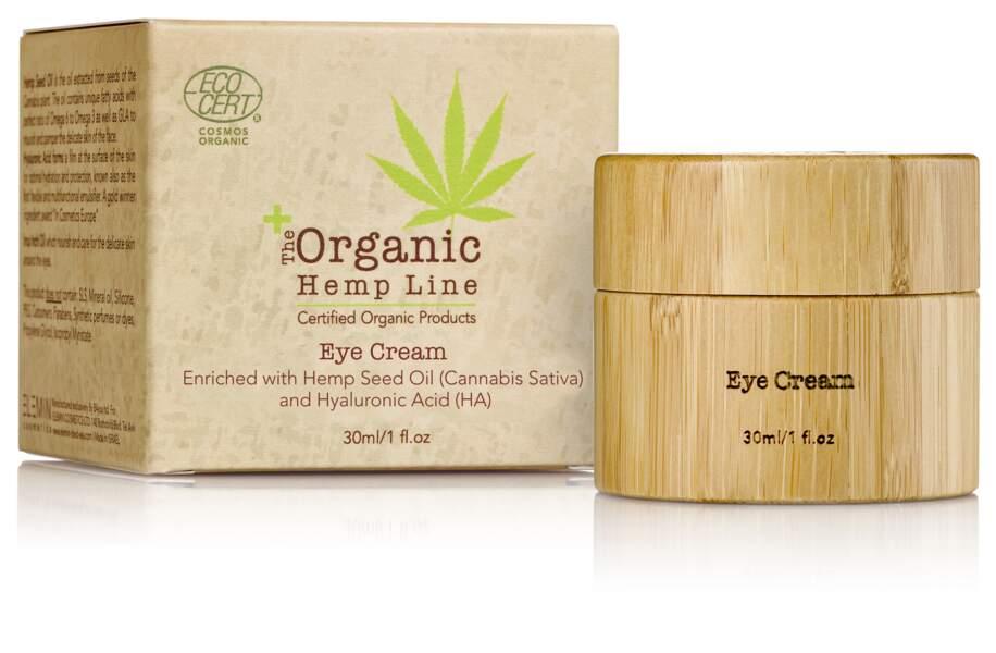Pour prendre soin du contour des yeux et y atténuer l'apparition des rides The Organic Hemp Line a convoqué le trio oméga 3, huile de chanvre et vitamine E.