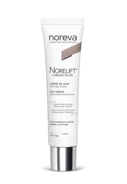 """Norelift de Noreva : une soin jour concentré en actifs """"botox like"""" pour combler les rides, défroisser la peau et affiner le grain de peau."""