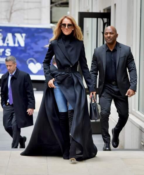 Le 29 février à Brooklyn, Céline Dion avait déjà impressionné dans un long manteau très dramatique