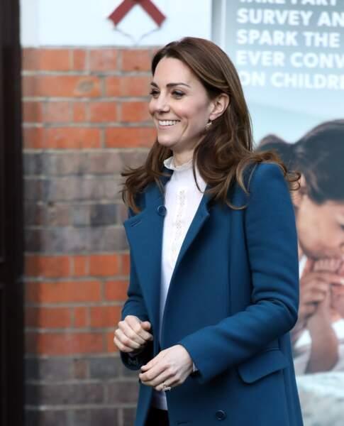 Kate Middleton à Londres le 29 janvier 2020.