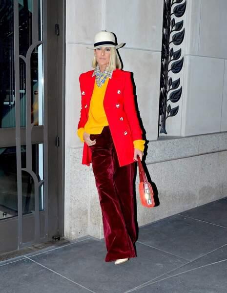 New York oblige, Céline Dion choisit une marque phare de la ville pour son look du 28 février : Marc Jacobs