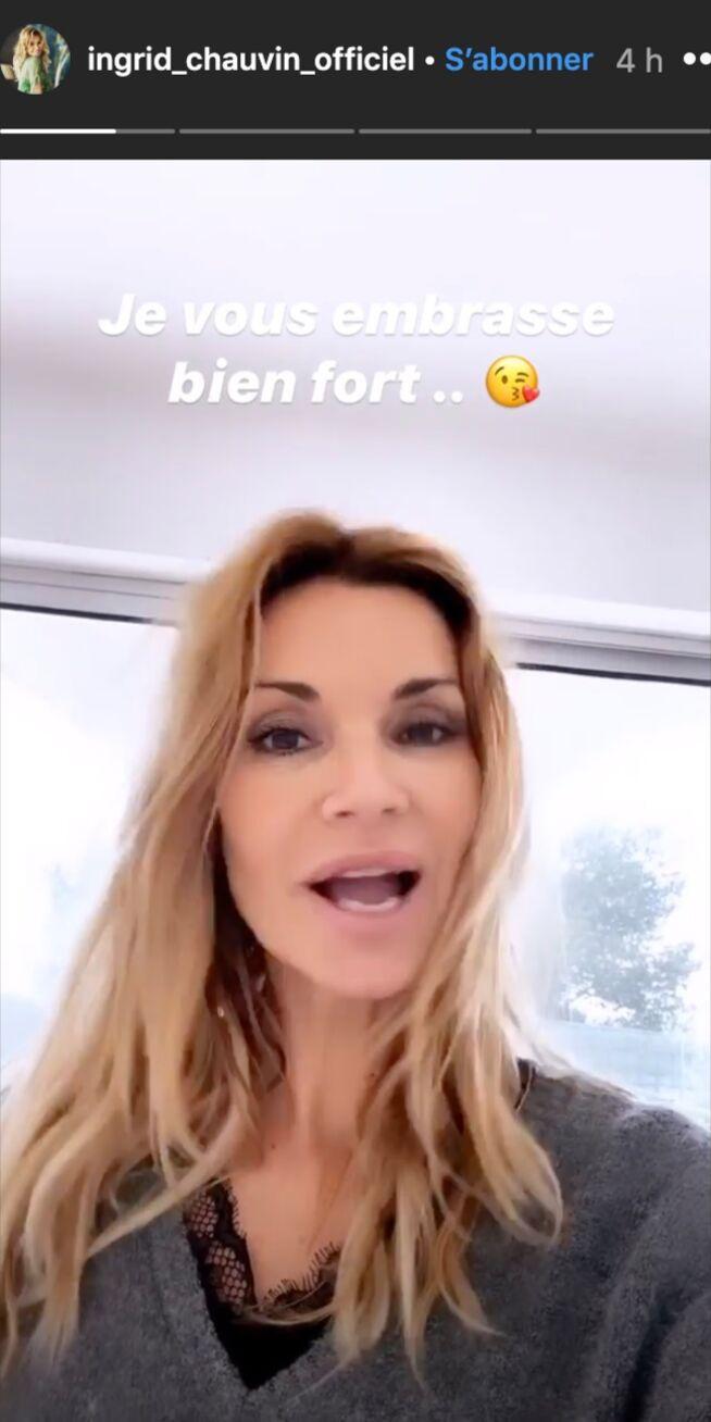 Ingrid Chauvin s'explique dans sa story Instagram