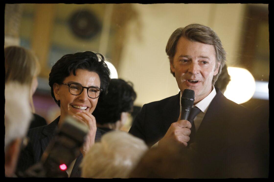 Rachida Dati en présence de François Baroin, aux côtés de Nelly Garnier, au café