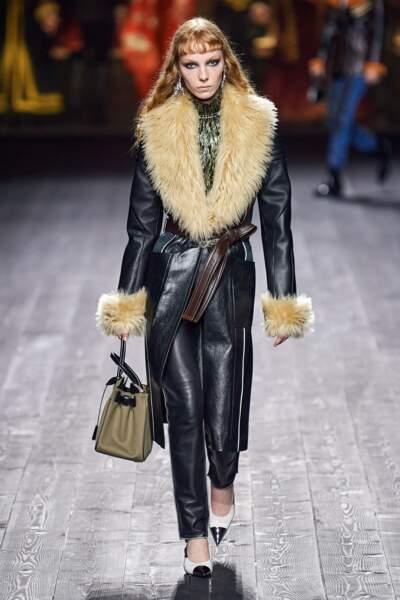 Tendance manteau en cuir - Louis Vuitton