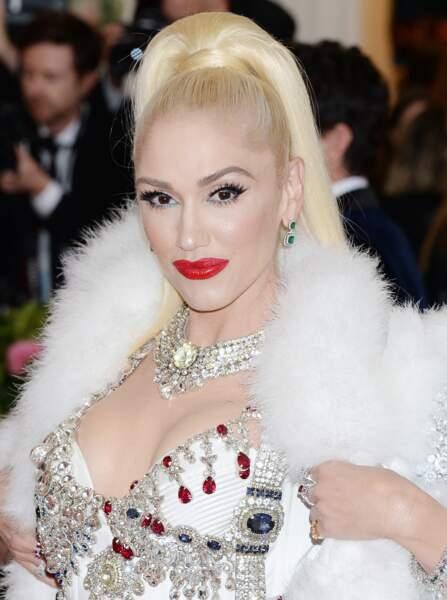 Gwen Stefani est fidèle à son rouge intense depuis plusieurs années