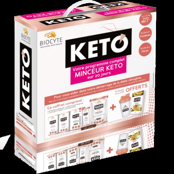 Cette année, Biocyte a réuni ses  brûleurs de graisses, sa poudre chocolatée et ses barres encas pour réduire l'appétit dans un kit minceur pour vous aider dans votre stratégie minceur. 83€