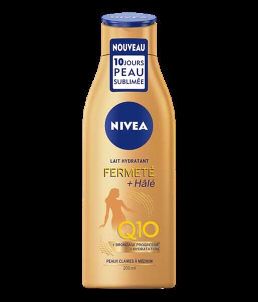 Une des nouveautés minceur les plus désirable de l'année : le Lait Hydratant Fermeté + Hâlé de Nivea. Vous l'aurez compris à son nom, sa promesse est double : raffermir et sublimer votre peau. 6,99€