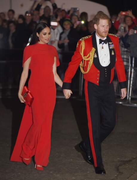 Magnifiques, le prince Harry et Meghan Markle, assistent au festival de musique de Mountbatten au Royal Albert Hall de Londres.