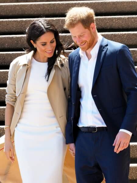 Le 16 octobre 2018, en Australie, le prince Harry et Meghan Markle misent sur le blanc immaculé.
