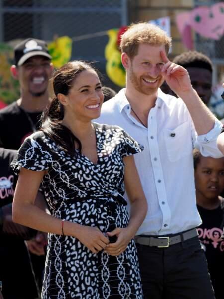 Une fois de plus, Meghan et Harry sont raccords en noir et blanc.