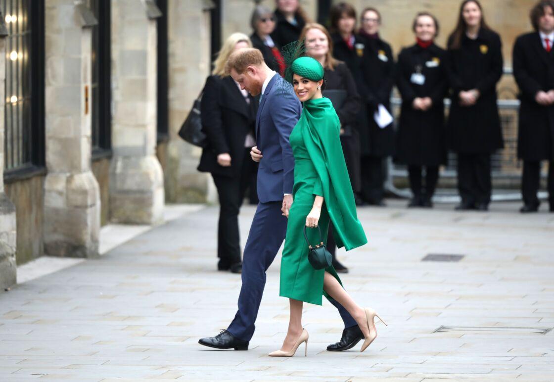Le prince Harry et Meghan Markle, lors de la cérémonie du Commonwealth à l'abbaye de Westminster à Londres, le 9 mars 2020.