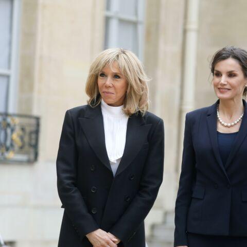 PHOTOS – Brigitte Macron et Letizia d'Espagne: duo glamour à l'Elysée malgré la crise