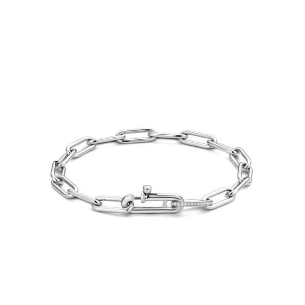 Bracelet en argent rhodié, 199€, Ti Sento Milano.