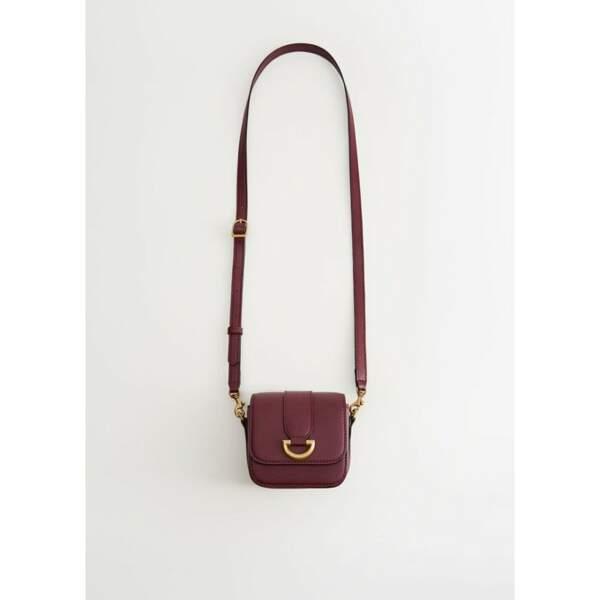 MANGO - Mini sac bordeaux, 16€